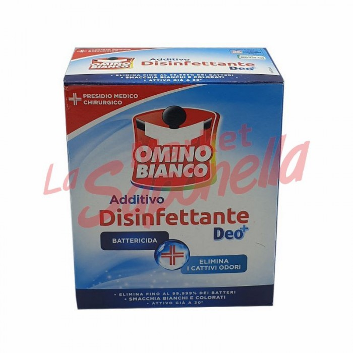 Aditiv dezinfectant pulbere hipoalergenic Omino Bianco – 450 g